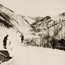 Прыжки на лыжах с трамплина в Маока (Холмск), середина 1930-х годов