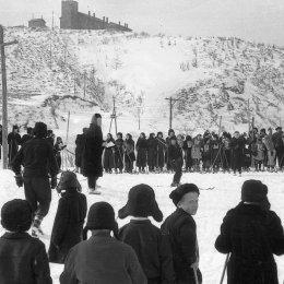 Лыжные соревнования в Углегорске, 1950-е годы