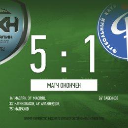 «Сахалин» добился крупной победы над «Факелом-М»