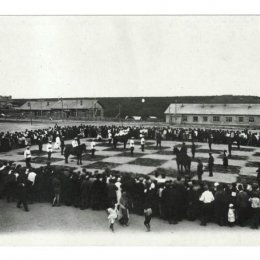 Ретрофото: «живые шахматы» на Сахалине
