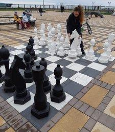 В Невельске провели турнир гигантскими шахматами