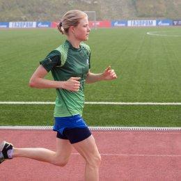 Каратистка Анна Чернышева провела тренировку перед Олимпиадой на стадионе «Спартак»