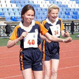 Легкоатлетические испытания преодолевают участники Всероссийских президентских игр