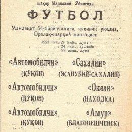 """""""Автомобилист"""" (Коканд) - """"Сахалин"""" (Южно-Сахалинск)"""